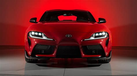 Toyota Supra 2020 red phone, desktop wallpapers, pictures
