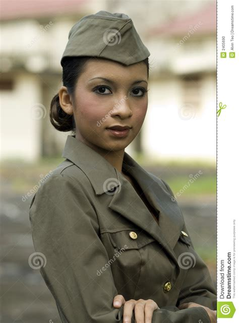 Female Army Personnel stock photo