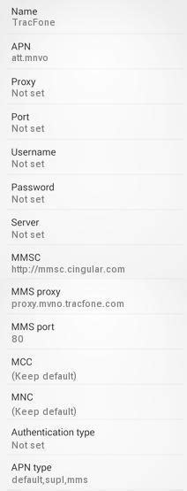 TracFone 4G APN Settings for Android - 4G LTE APN USA
